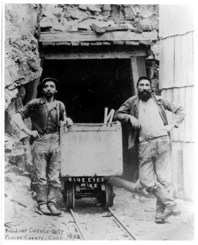 Early California miners in Levi's.