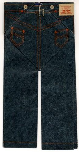 Origami replica of Levi's 501 jeans