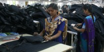 Woman in Levi's factory