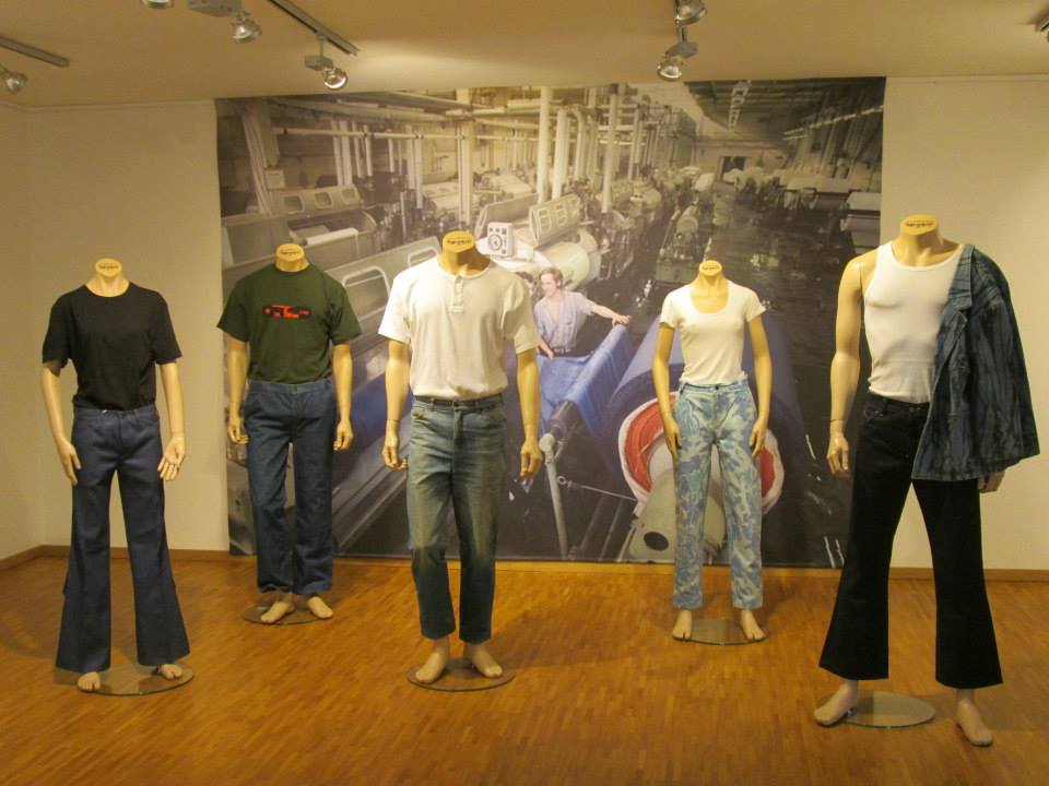 jeans on display