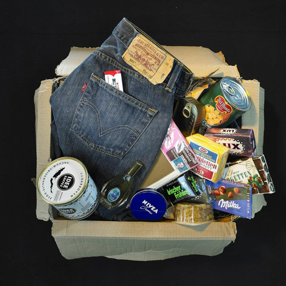 """This typical """"Western parcel"""" includes a pair of Levi's ."""