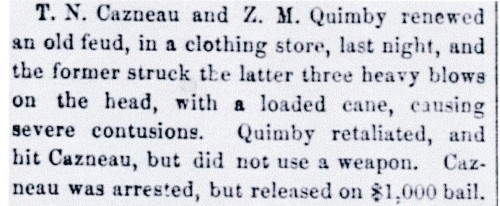 The Cazneau/Quimby brawl, 1858. Courtesy Dr. Robert J. Chandler