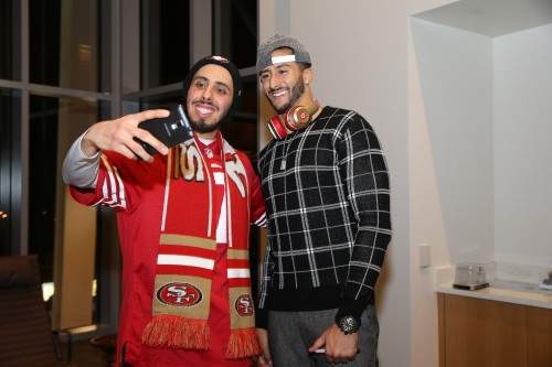 Colin Kaepernick and Teens from the Bill Wilson Center