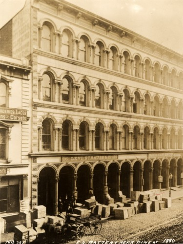 Company headquarters on Battery Street, 1873