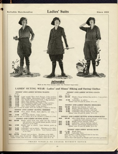 Hiking Togs price list