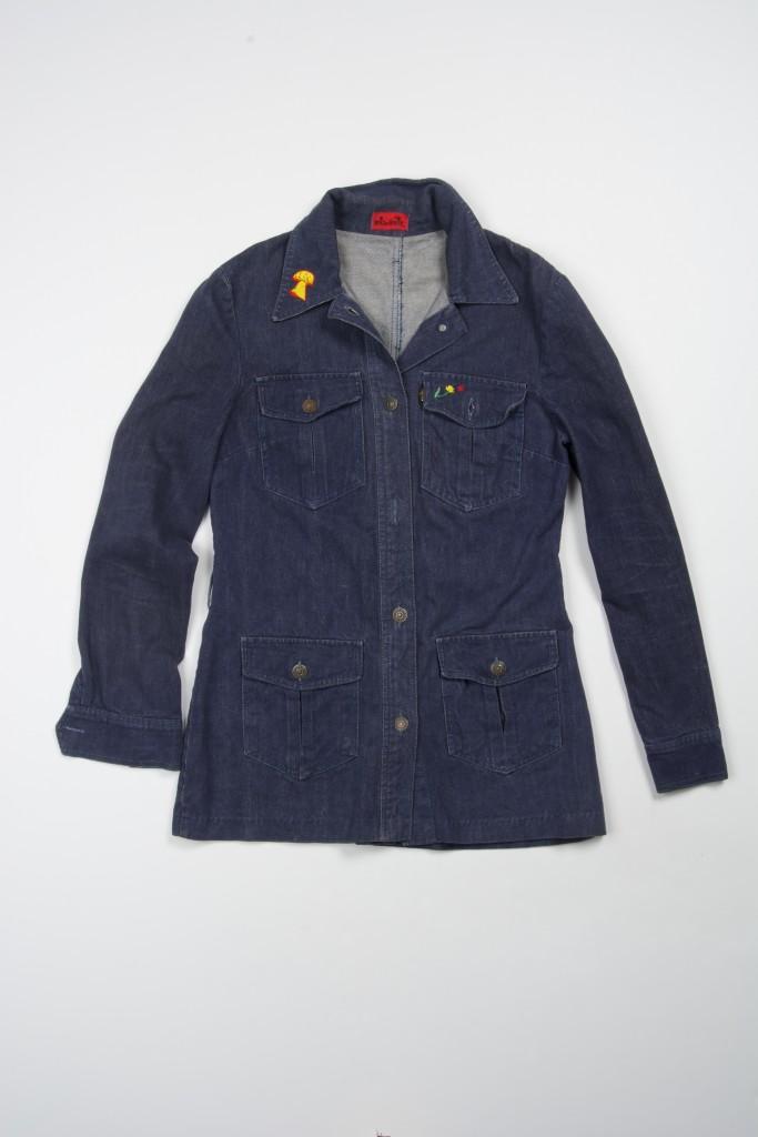 Miss Levi's Women's jacket sueded denim three-quarter length belt missing 1960s
