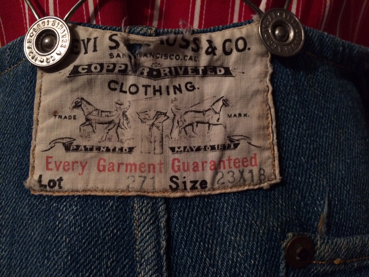 69457648ccb Vintage Levi s Overalls Hidden in the Attic
